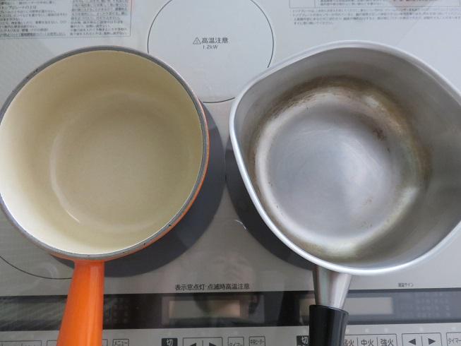 掃除前の鍋